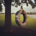 Memorial tire swing
